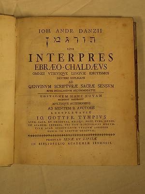 Turgeman sive Interpres Ebraeo-Chaldaeus omnes utriusque linguae idiotismos dextere explicans ad ...