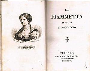 La Fiammetta.: Giovanni Boccaccio: