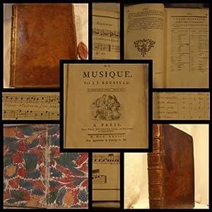 Dictionnaire de Musique.: Rousseau, J(ean) J(aques).