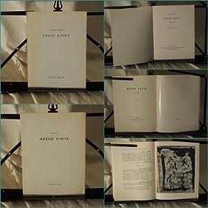 Exhibition. Franz Kafka 1883-1924. Catalogue.