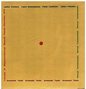Laureaci III Miedzynarodowego Biennale Plakatu. Jukka Veistola, Tapio Salmelainen, Peter Lindholm, ...