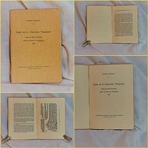 "Etude sur le ""Fasciculus Temporum"", edition de: Werner, Robert."