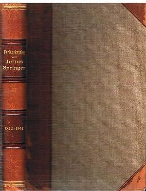 Verlagskatalog von Julius Springer in Berlin 1842-1904.