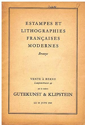Catalogue de vente 51. Estampes et lithographies