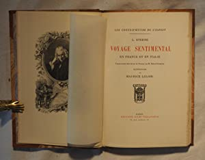 Voyage sentimental en France et en Italie. Traduction nouvelle et notice de M. Emile Blemont. ...