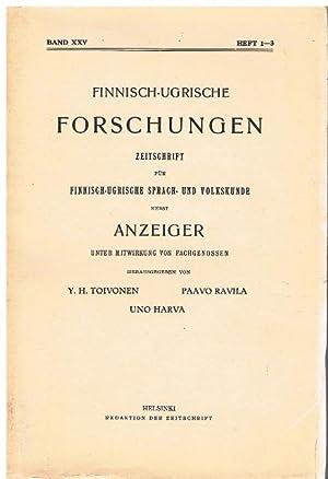 Finnisch-Ugrische Forschungen. Zeitschrift für Finnisch-Ugrische Sprach- und Volkskunde nebst ...