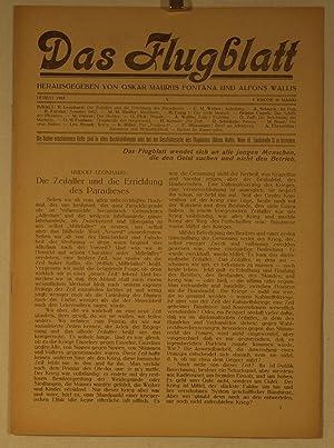Das Flugblatt. Herausgegeben von Oskar Maurus Fontana und Alfons Wallis. Heft 1 - 5 [alles ...