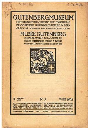 Gutenbergmuseum. Mitteilungen des Vereins zur Förderung des