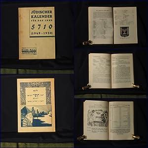 Jüdischer Kalender für das Jahr 5710 (1949-1950).