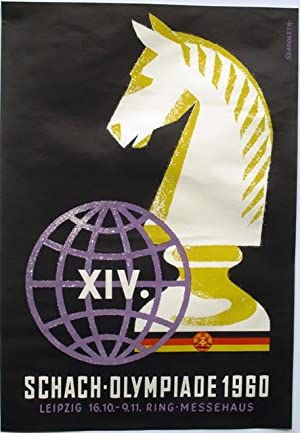 XIV. Schach-Olympiade 1960. Leipzig 16.10. - 9.11. Ring-Messehaus.