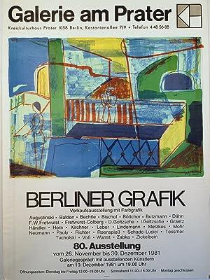 Galerie am Prater. Berliner Grafik. Verkaufsausstellung mit Farbgrafik Augustinski - Balden - ...