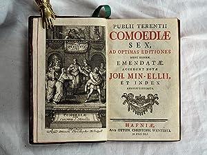 Comoediae Sex, ad optimas editiones nunc denum emendatae. Accedunt notae Joh. Min-Ellii, et index ...