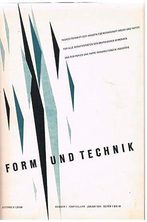 Form und Technik. Fachzeitschrift der Industriegewerkschaft Druck und Papier für alle Sparten ...