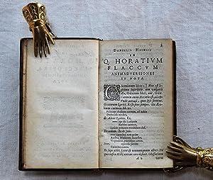 In Q. Horatii Flacci Opera, animadversiones et notae.: Heinsius, Daniel: