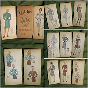 Sketches. Dresses for ladies. Winter 1944.