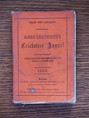 James Lillywhite's Cricketers' Annual 1887: James Lillywhite