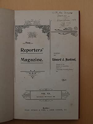 The Monthly Reporters' Magazine Volume 20 September 1899 to August 1900: Edited by Edward J. ...