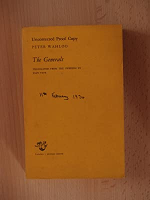 The Generals (uncorrected proof copy): Wahloo, Peter