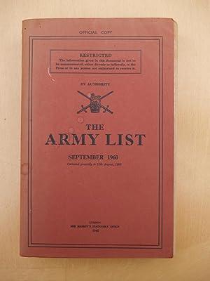 The Army List: September 1960: HMSO