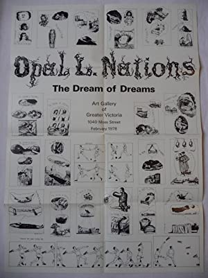 A poster for Nations' exhibition 'The Dream of Dreams' at the Art Gallery of Greater Victoria, BC...