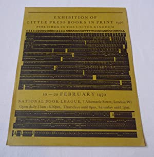 Poster/flyer for an 'Exhibition of Little Press books in print 1970 published in the United Kingd...