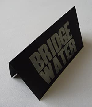 A broadside/folded card ('Bridge / Water') apparently from Punch Press