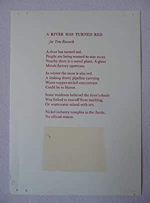 A River Has Turned Red: for Tom Raworth