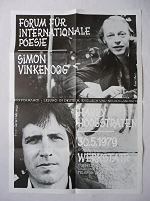 A poster for a performance and reading by Simon Vinkenoog and Harry Hoogstraten on 30 May 1979 in...
