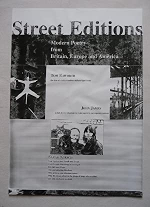 An A3 poster, printed in black on white stock, for Street Editions, specifically John James, Tom ...