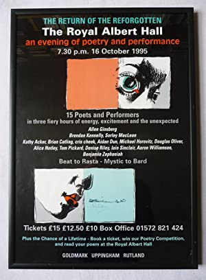 A poster for The Return of the Reforgotten at The Royal Albert Hall, an evening of poetry and per...
