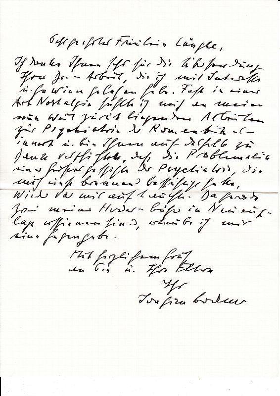 eigenhndiger brief mit unterschrift bodamer joachim - Eigenhandig Geschriebener Lebenslauf