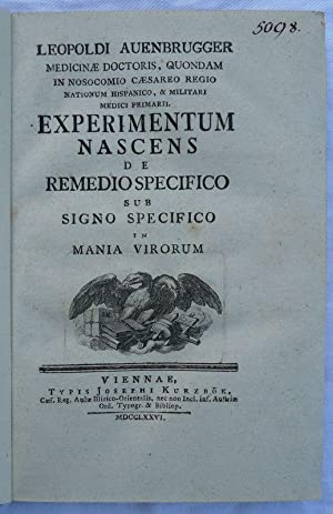 Experimentum nascens de remedio specifico sub signo specifico in mania virorum.