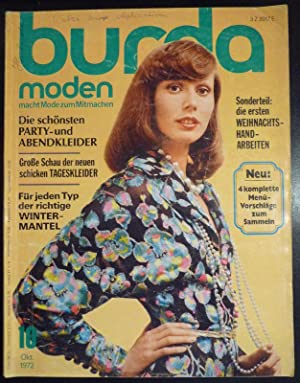 burda moden heft oktober 1972 von burda aenne hsg offenburg verlag aenne burda dr. Black Bedroom Furniture Sets. Home Design Ideas