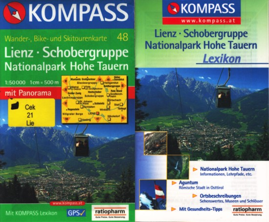 Hohe Tauern Karte.Kompass Wander Bike Und Skitourenkarte 48