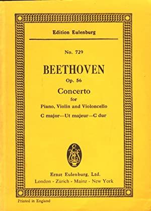 Beethoven ~ Concerto C major for Piano, Violin and Violoncello with Orchestra - Op. 56.