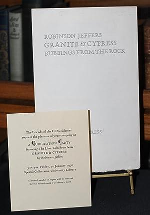 Granite and Cypress: Jeffers, Robinson