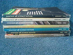 The Magazine of Fantasy and Science Fiction 1965- 7 Issues