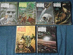 Analog Science Fiction/Science Fact Magazine 1968-6 Issues