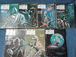 Analog Science Fiction/Science Fact Magazine 1969-7 Issues