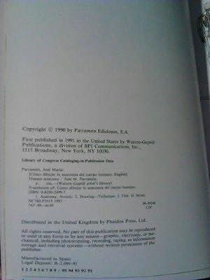 Human Anatomy (Watson-Guptill Artist's Library): Parramon, Jose Maria