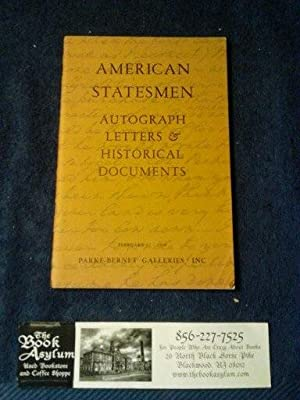American Statesmen Autograph Letters & Historical Documents