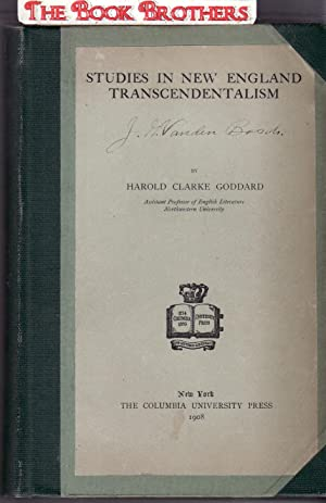 Studies in New England Transcendentalism ;Columbia University Studies in English,Series II. Vol.II,...