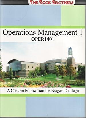 Operations Manageemnt 1;OPER 1401 (Custom Publication for Niagara College): Stevenson,Willian J.;...