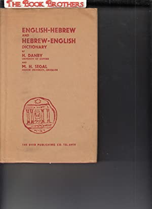 segal m h - a concise hebrew english english hebrew dictionary