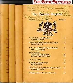 The Ontario Register; 1970, Volume 3, No. 1,2,3,4: Wilson, Thomas B.