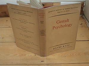 Gestalt Psychology: Katz, David