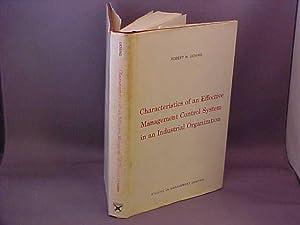 Characteristics of an Effective Management Control System: Deming, Robert H.