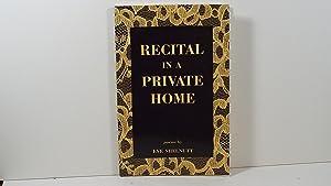 Recital in a Private Home: Shelnutt
