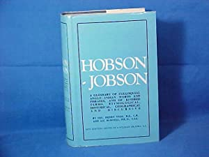 Hobson - Jobson a Glossary of Colloquial: Yule, Col. Henry