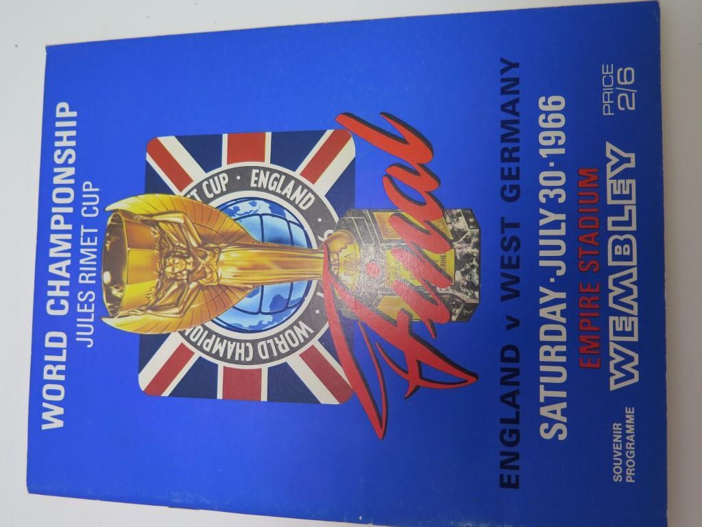 England V West Germany 1966 (world Cup Final) Football Programme Football Assosiation Fine Hardcover